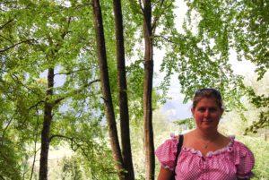 Emma, fd Berghofs terrass sommaren 2011
